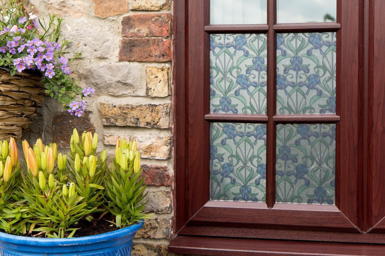Best Details About D C Fix Fablon Floral Stained Glass Metallic 400 x 300