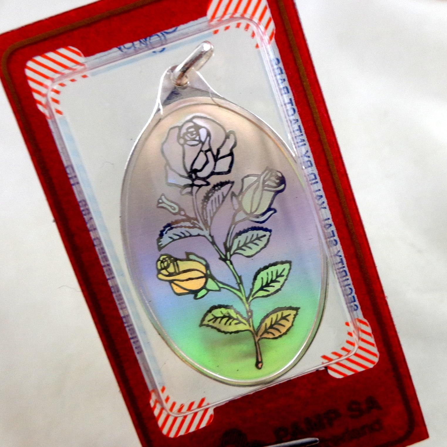Pamp 10g 999 fine silver holographic roses pendant holographic pamp 10g 999 fine silver holographic roses pendant mozeypictures Images