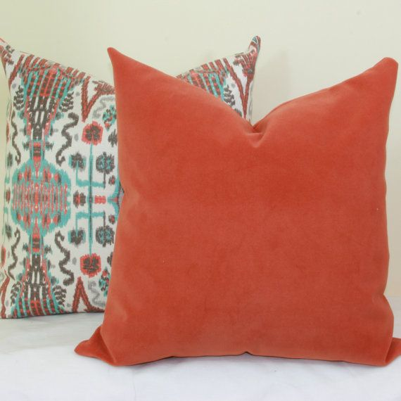 Coral Velvet Pillow Cover 40x40 40x40 40x40 40x40 40x40 40x40 40x40 Inspiration 28x28 Pillow Cover