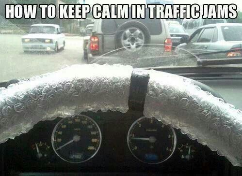 How to keep calm in traffic jam. - Great idea!!