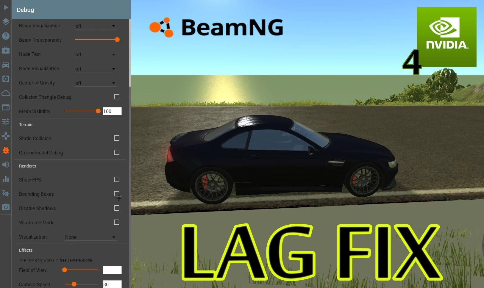 BeamNG Drive LAG FIX & FPS Boost | Vicious G Youtube! | Fps