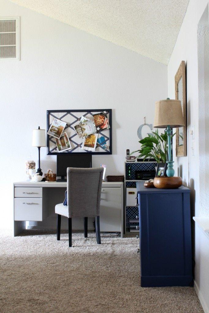 home office reveal! - one room challenge week 6 | hausbüro, Innenarchitektur ideen