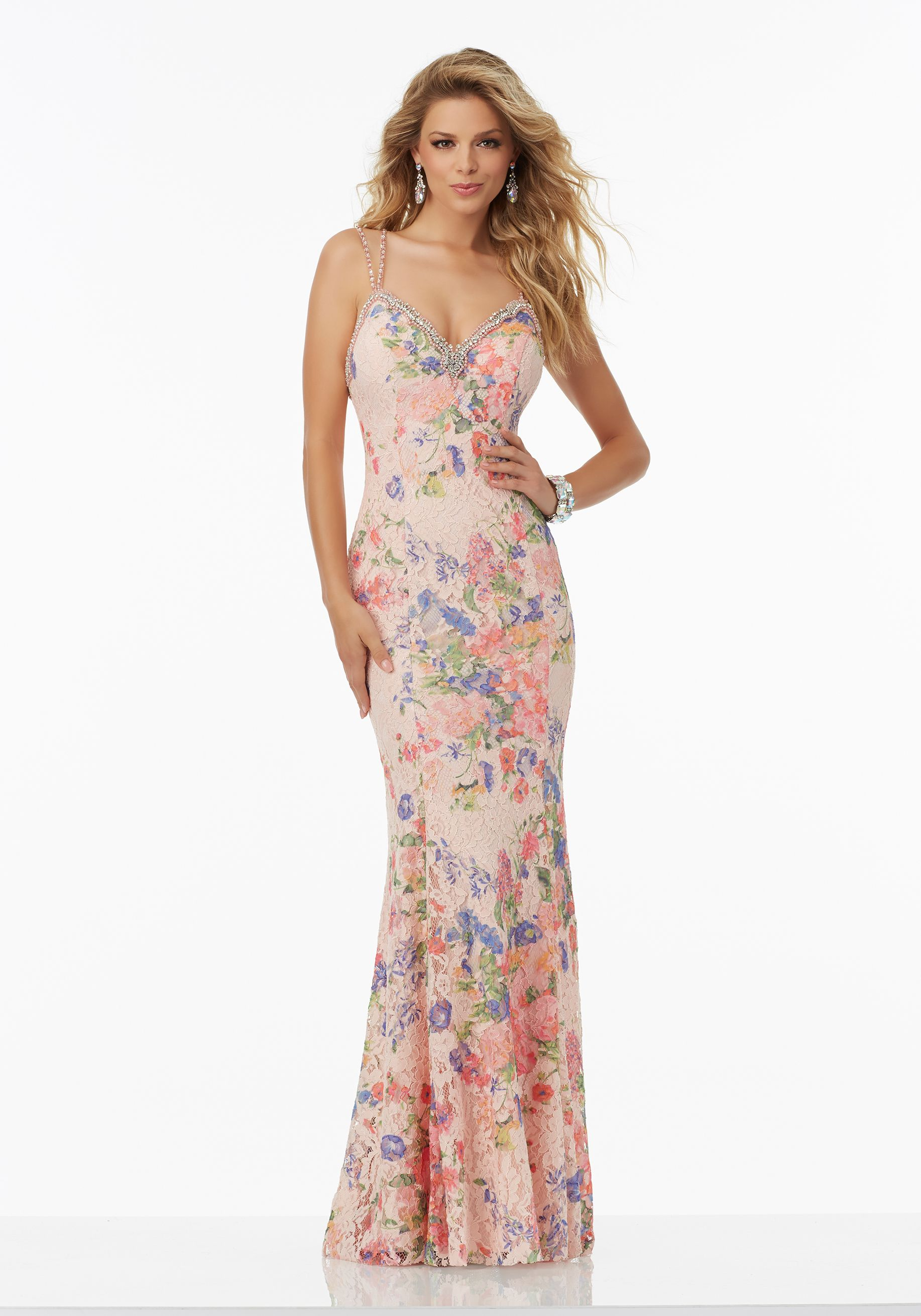 Mori lee wedding dresses discontinued styles  Prom Dresses by Morilee designed by Madeline Gardner Floral Printed