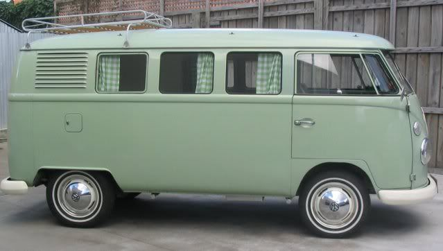 Birch Green L511 | Exterior paint colours for my kombi