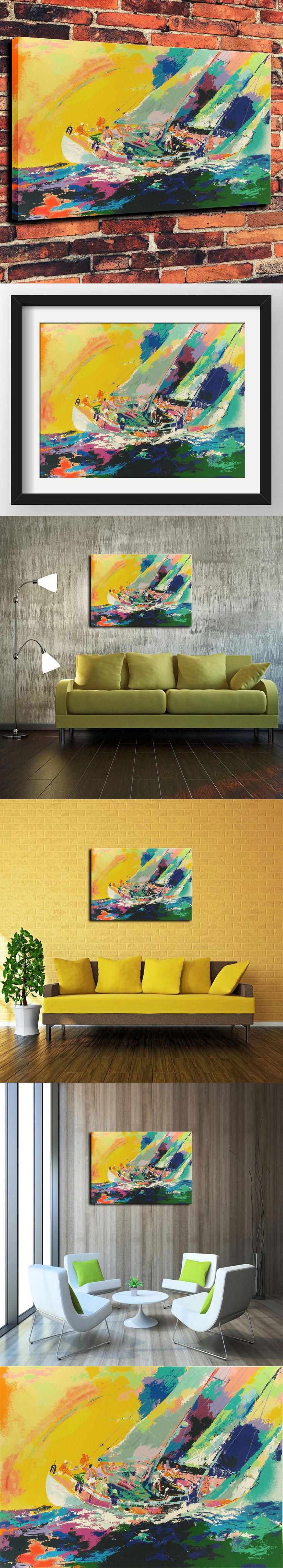 Canvas Artwork Prints Watercolor Oil Painting for Western Home Decor ...