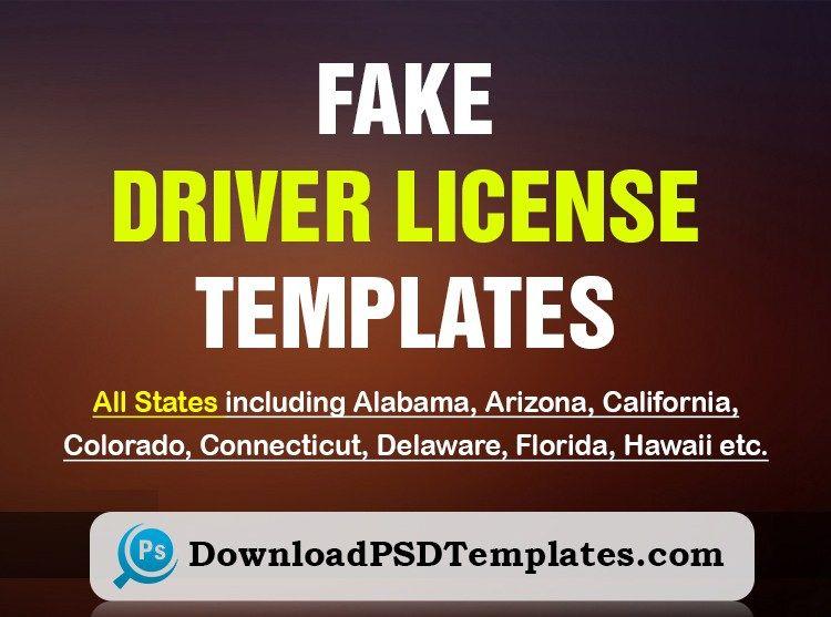Fake Driver License Template Fake Id Template Generator Id Card