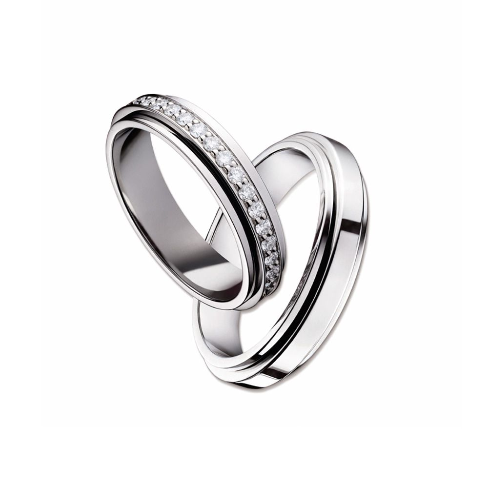 Piaget Possession wedding rings G34PK500 and G34PK700 White gold ... 7846b1c391e