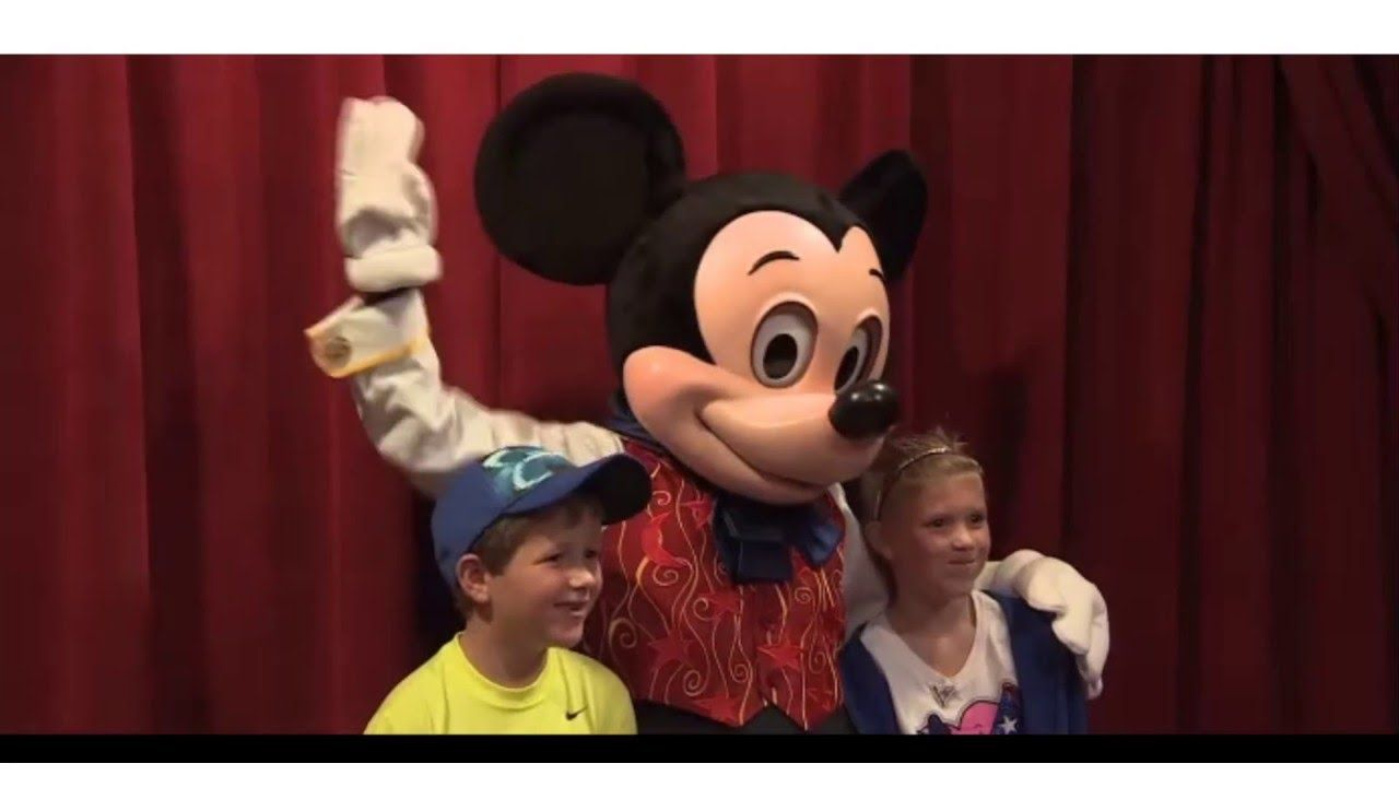 Magic Mickey is at it again in the Town Square Theater at Magic Kingdom Park in Walt Disney World.