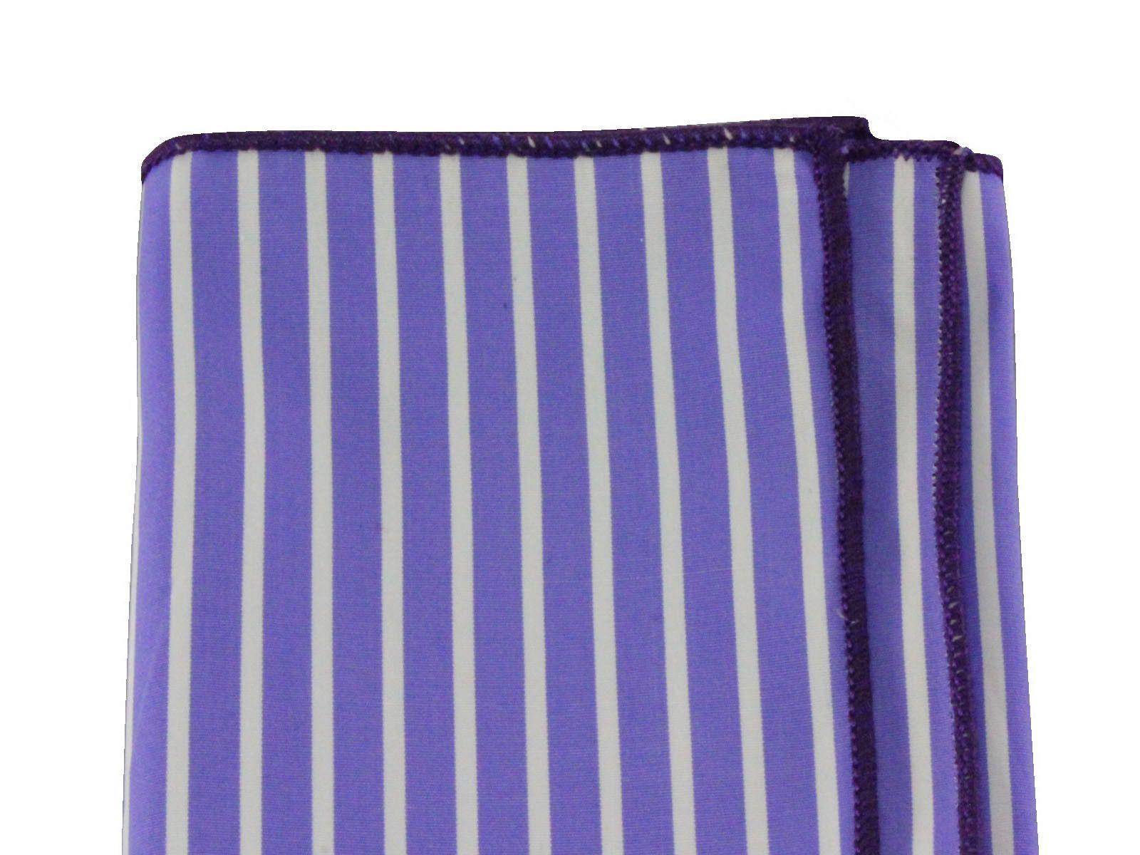 Periwinkle Striped Cotton Pocket Square