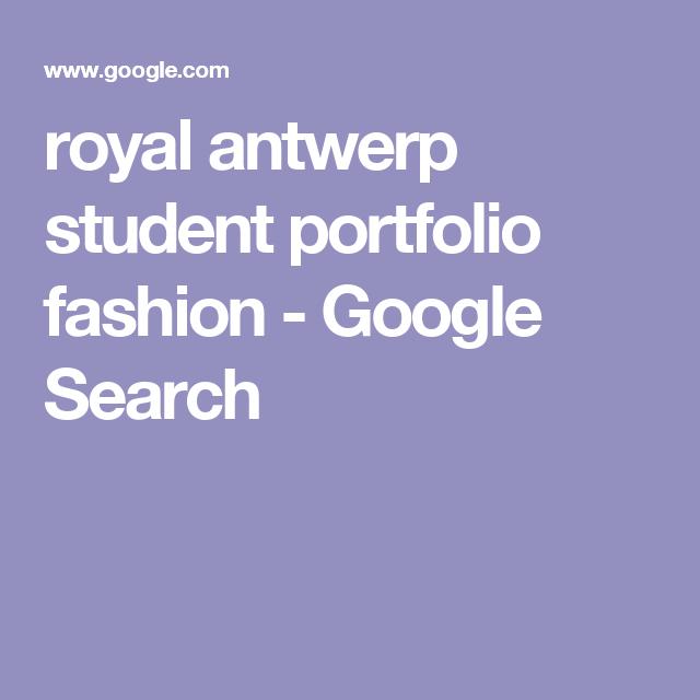 royal antwerp student portfolio fashion - Google Search