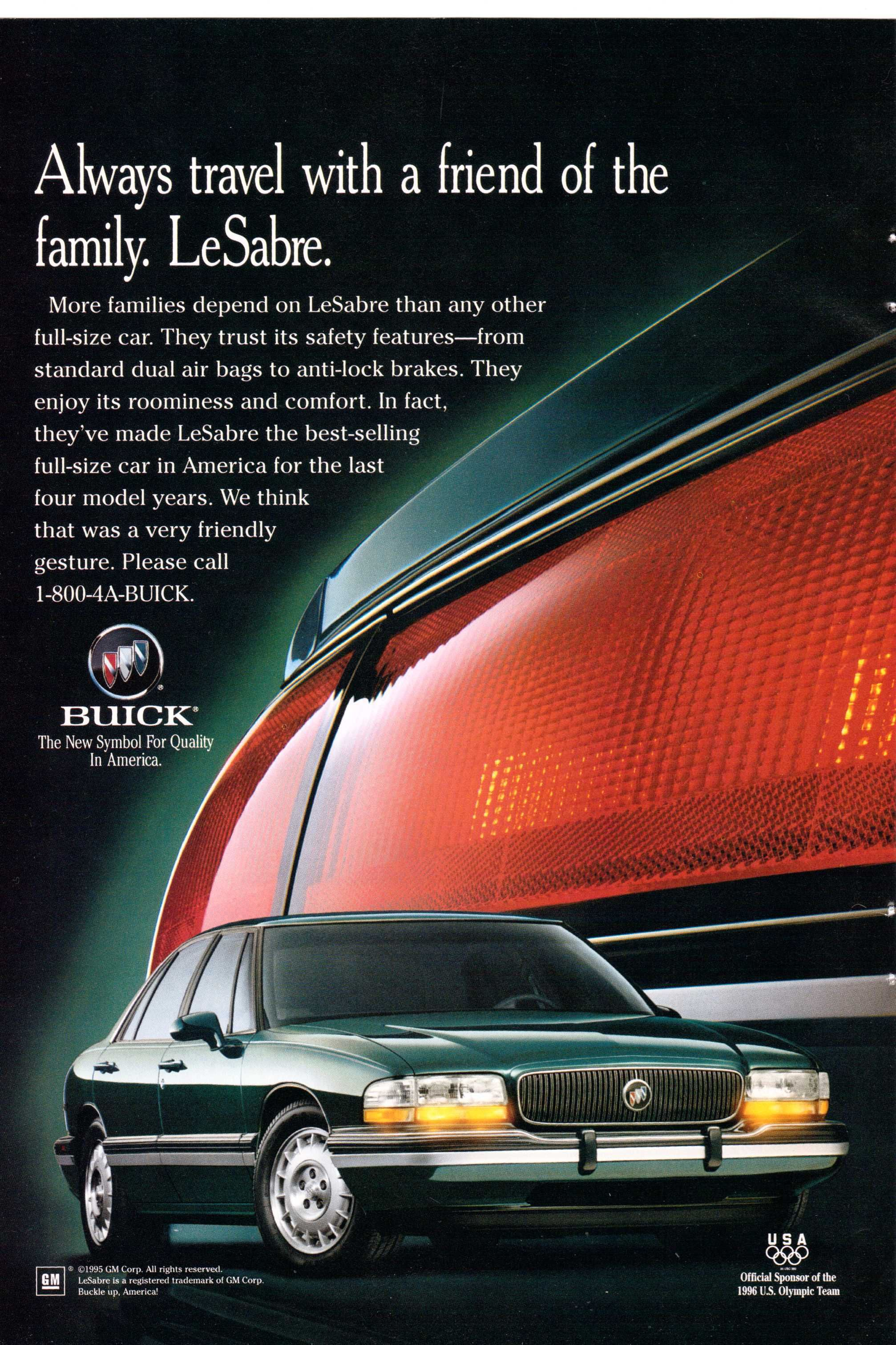 1995 Buick Lesabre Ad From National Geographic October 1995 Buick Lesabre Buick Buick Lucerne
