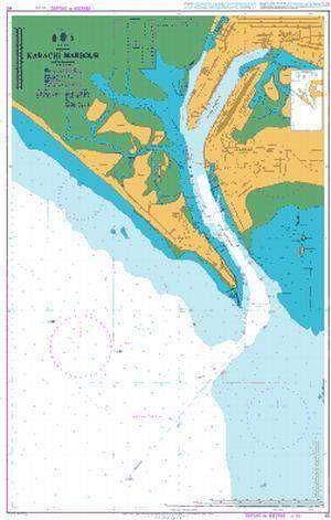 British Admiralty Nautical Chart 40: Karachi Harbour