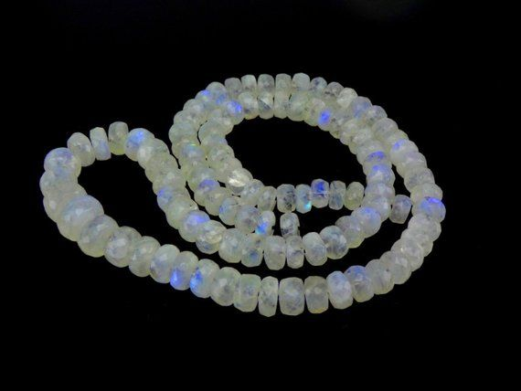 Moonstone Beads Multi Colored 13 Strand 3.5mm Beads Rondelle Moonstone Bead Faceted Gemstone Beads Moonstone Jewelry Supplies Free Shipping