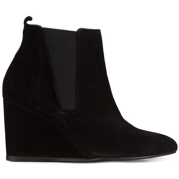 Lanvin - wedge chelsea boots ($939) ❤ liked on Polyvore featuring shoes,  boots