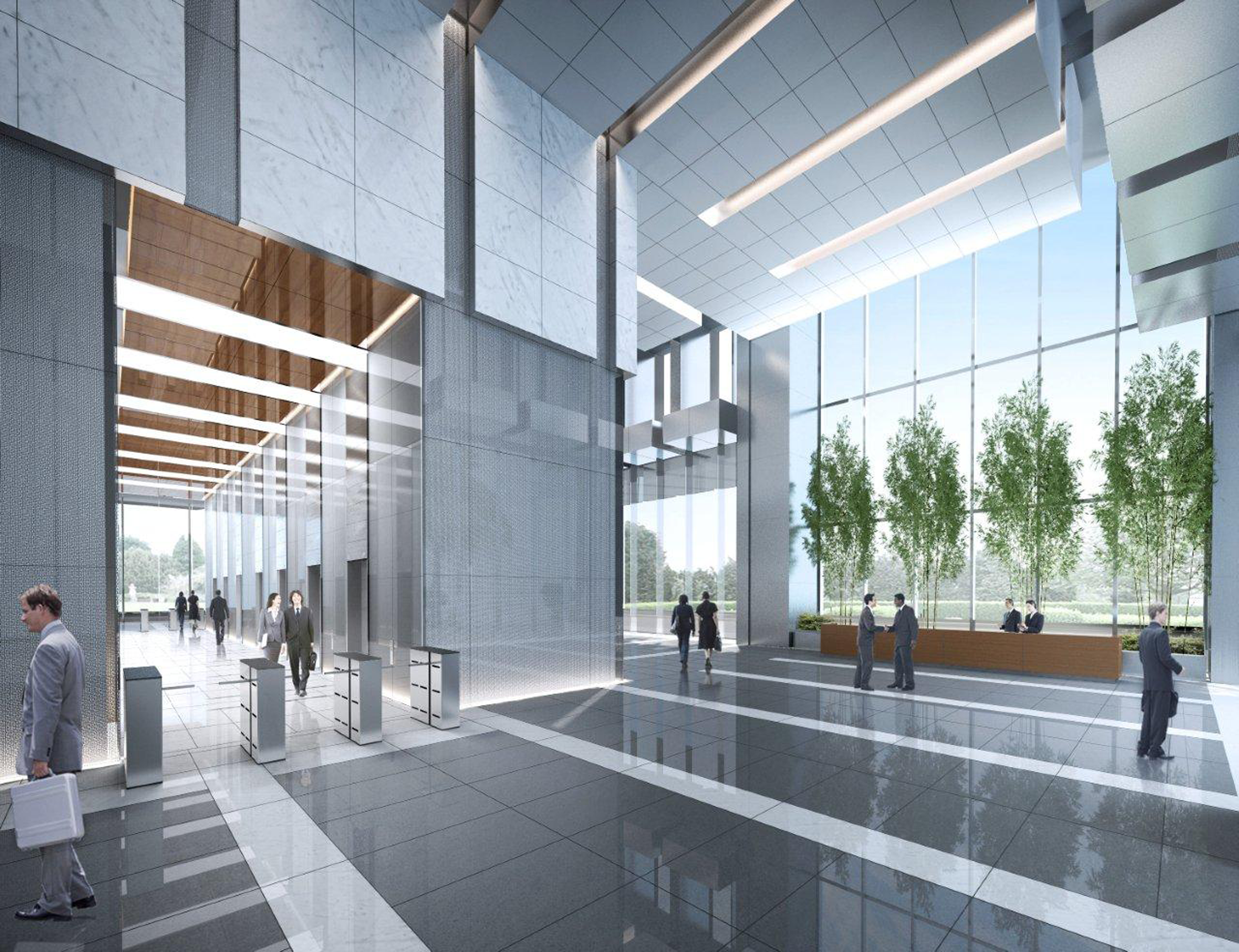 gp-shunde4.png (2400×1845) | Lobby design, Office space ...