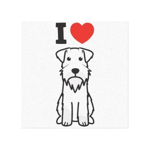 Miniature Schnauzer Dog Cartoon Canvas Print Zazzle Com