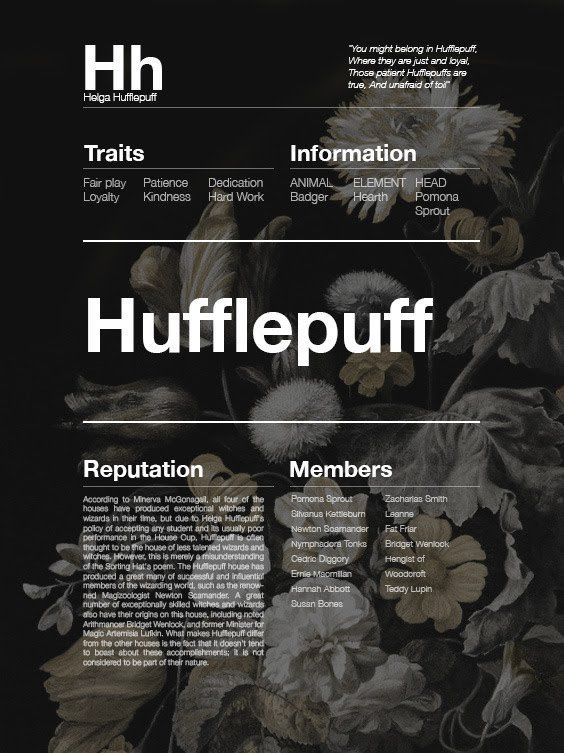 Invisible Hogwarts Houses Hufflepuff Harry Potter Pinterest