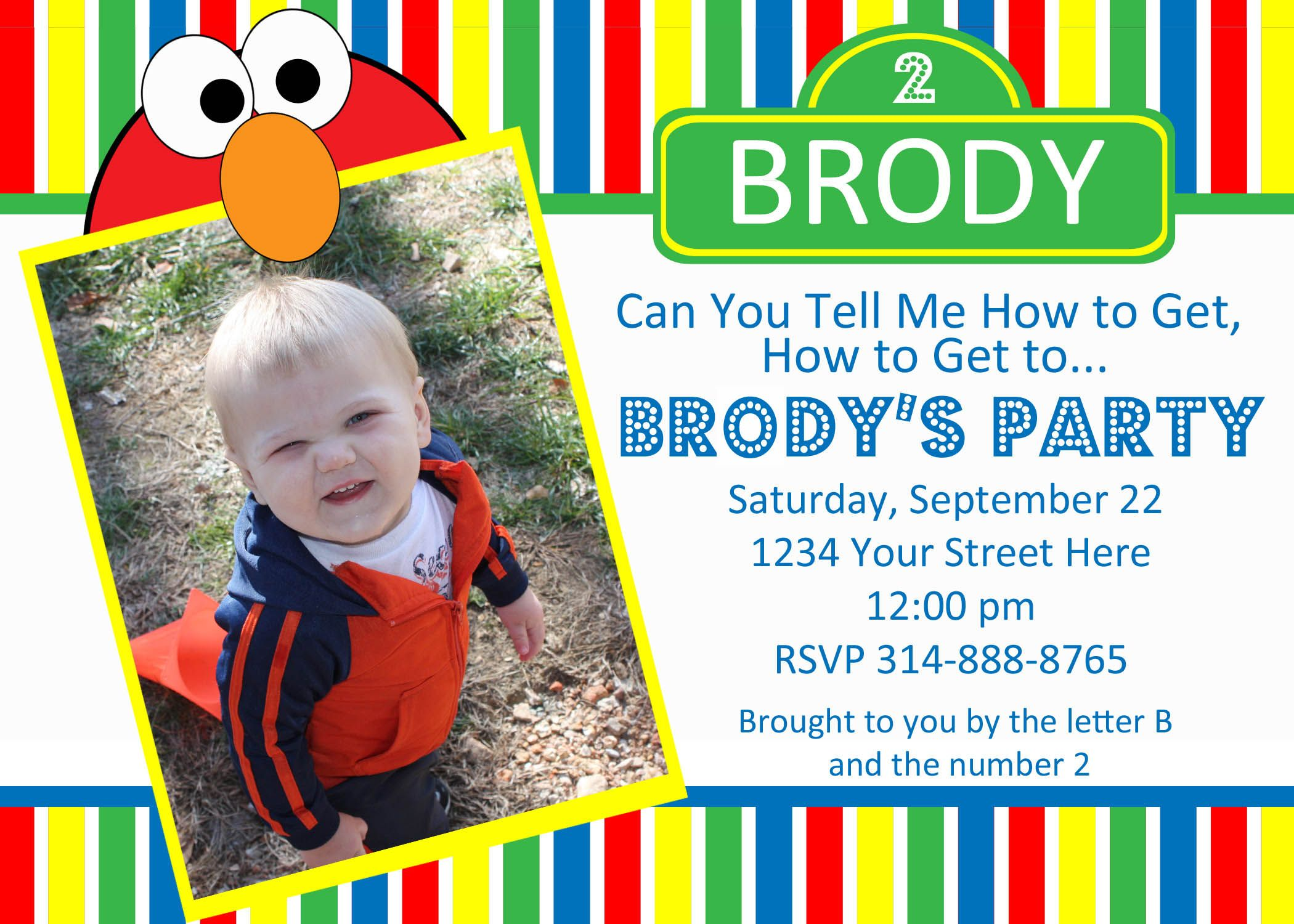 17 Best images about Sesame Street Party – Sesame Street Party Invitations Personalized
