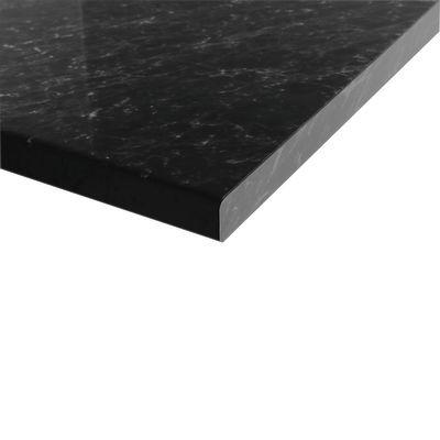 Piano cucina su misura laminato Marmo nero 6 cm