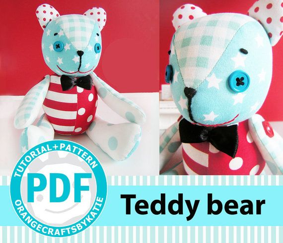 Teddy Bear Pdf Patterns And Sewing Tutorial Toy Dollymix