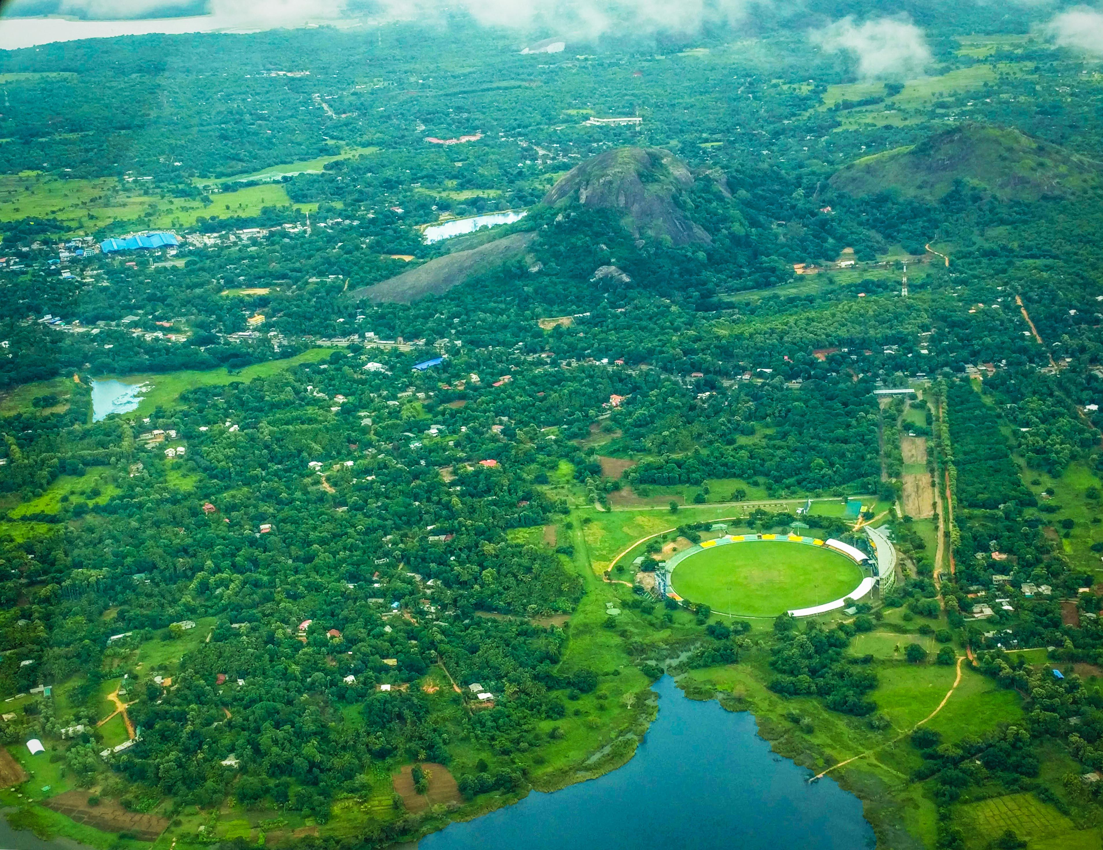 Overflying The Breathtaking Rangiri Dambulla International Cricket