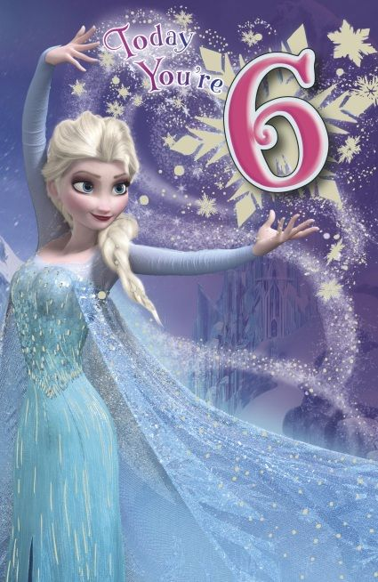 Uk Greetings Frozen 6th Birthday Card Happy Birthday Princess Birthday Wishes Girl Happy Birthday Girls