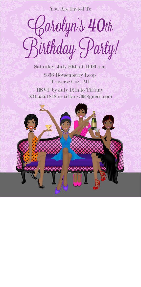 Girls Night Out Birthday Invitation Printable by AnnounceItFavors $15 00 Printable birthday