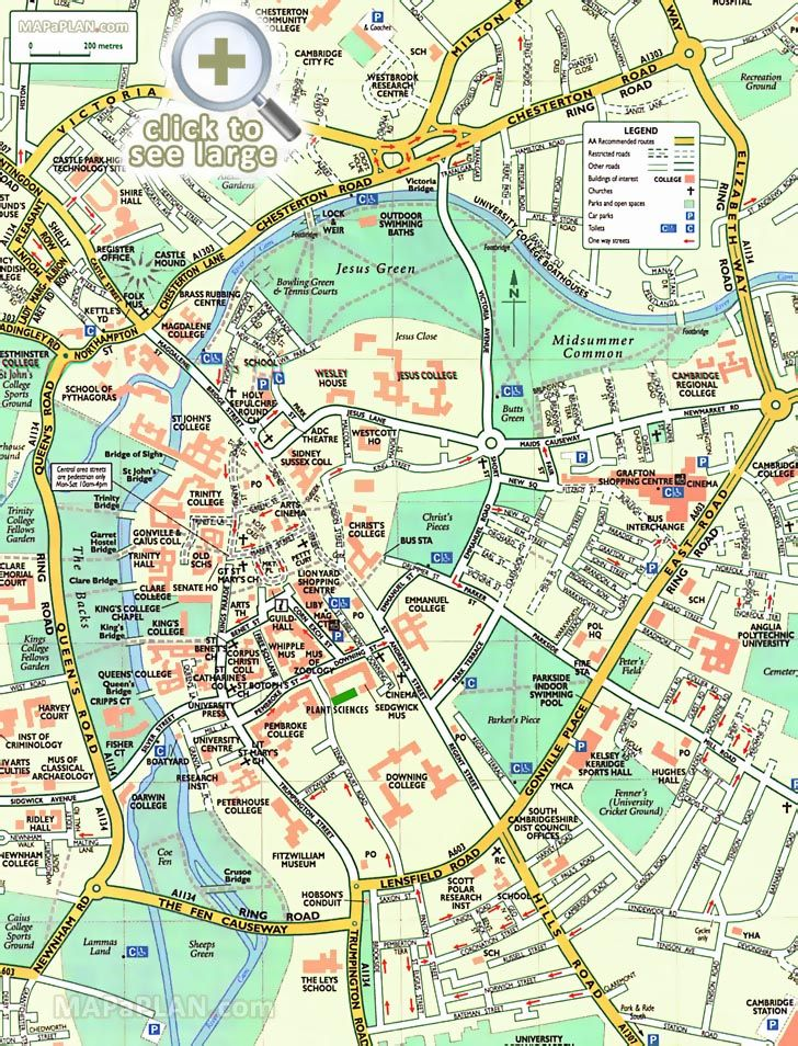 Pdf map of cambridge uk