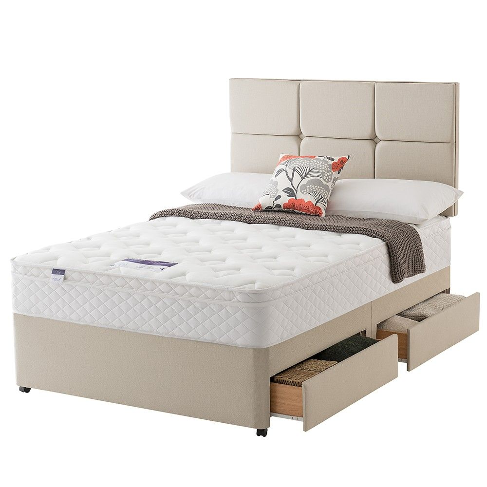 Silentnight Comfort Miracoil Memory Divan Bed Bed Beds For Sale