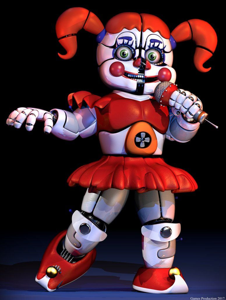Five Nights At Freddy S Circus Baby Wallpaper Circus Baby Raw Render By Gamesproduction Fnaf Baby Circus Baby Fnaf Wallpapers