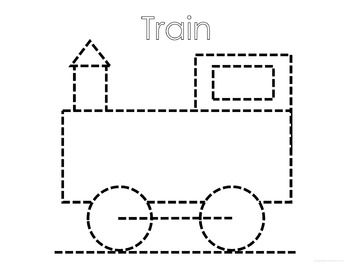 Pre-Writing Print and Go Tracing Practice: Transportation