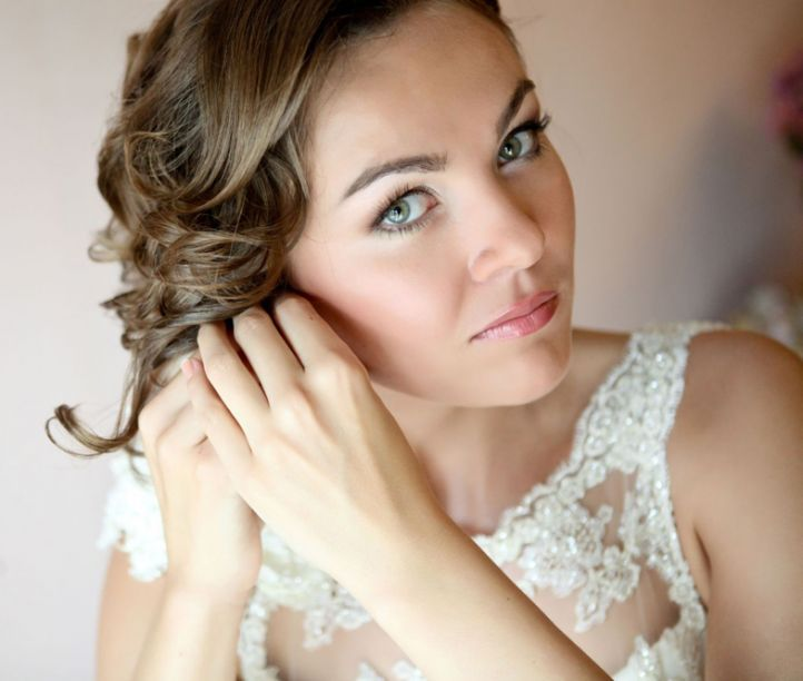 Wedding makeup for brides with brown hair: wedding makeup for ...