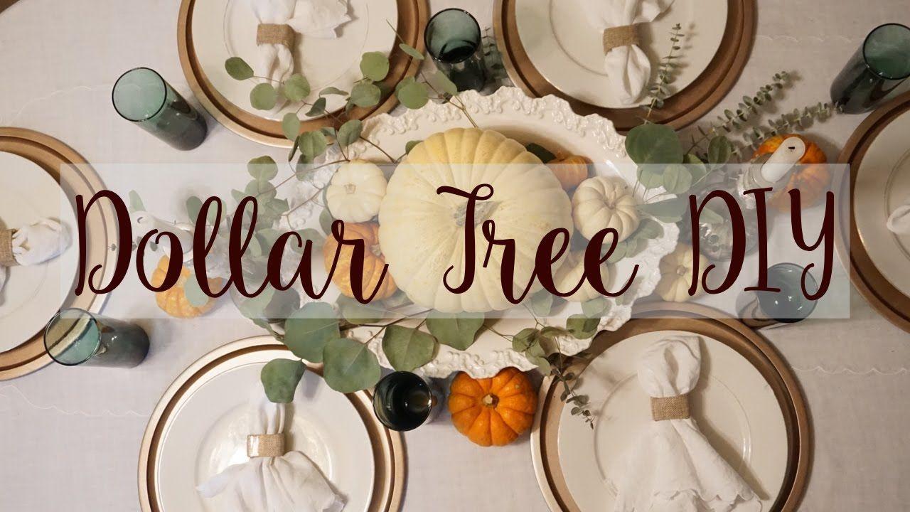 Dollar Tree Fall Decor DIY YouTube Fall decor dollar