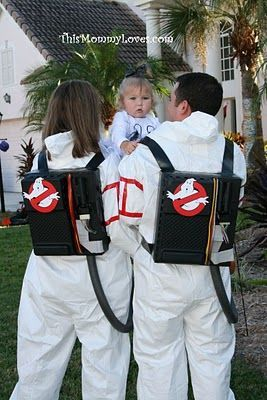 Iu0027ve seen Ghostbusters costumes a million times but never with a cute little toddler ghost!  sc 1 st  Pinterest & 60+ Family Halloween Costume Ideas | Pinterest | Ghostbusters ...