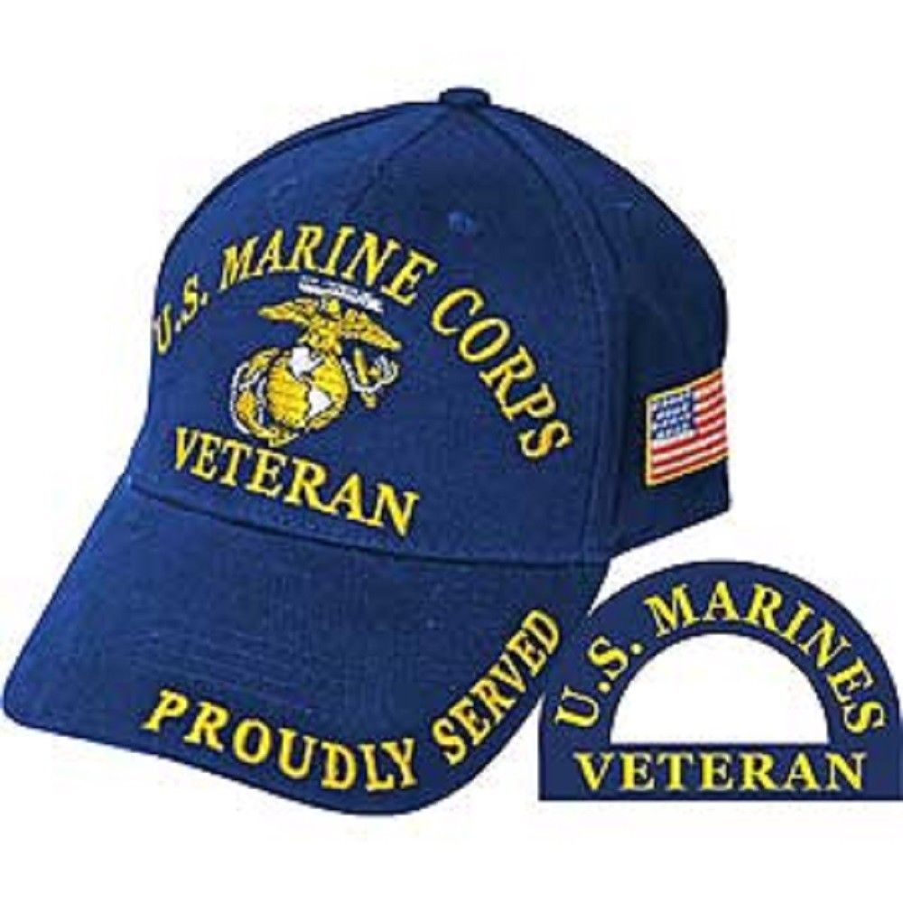 Marine Corps A Tradition Since 1775 Navy Blue Embroidered Cap Hat Marines U.S Clothing, Shoes & Accessories
