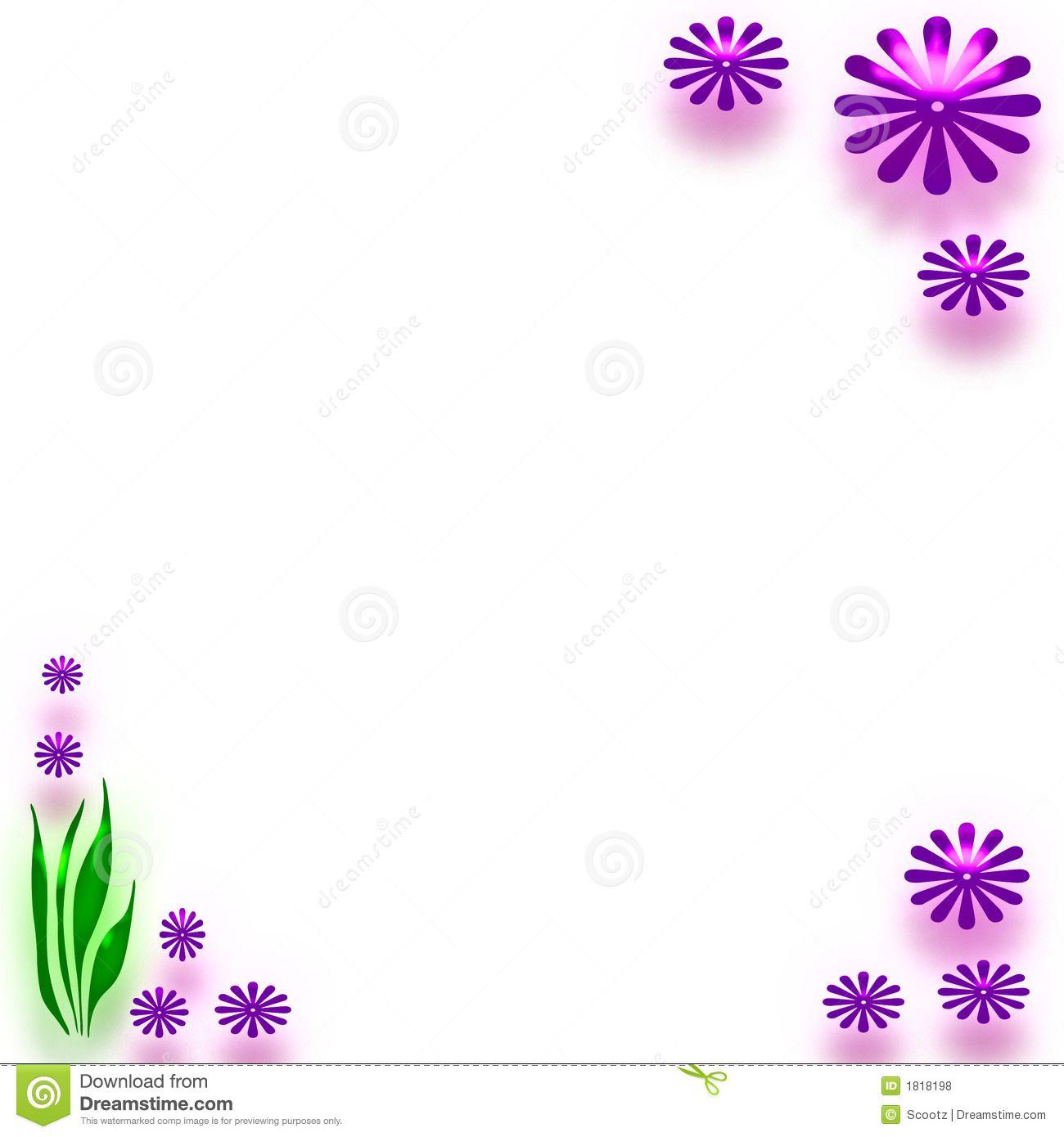Flower Border Paper Clipart - Free Clipart   Pages   Pinterest