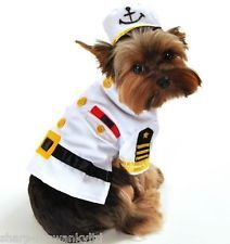 Pet Dog Cat Navy Sailor Halloween Xmas Fancy Dress Costume Outfit