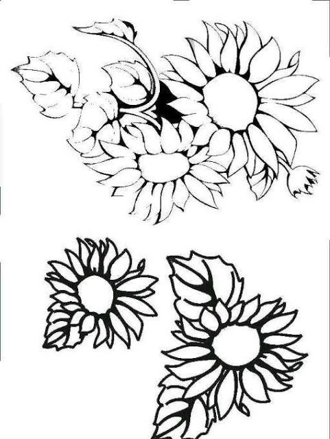Dibujos y Plantillas para imprimir: girasoles   Macetas   Pinterest ...
