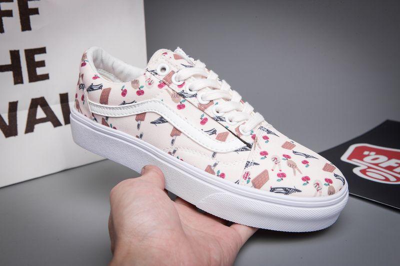 8e3b814da9 VANS shoes authentic color printing low help board shoes casual shoes  canvas shoes