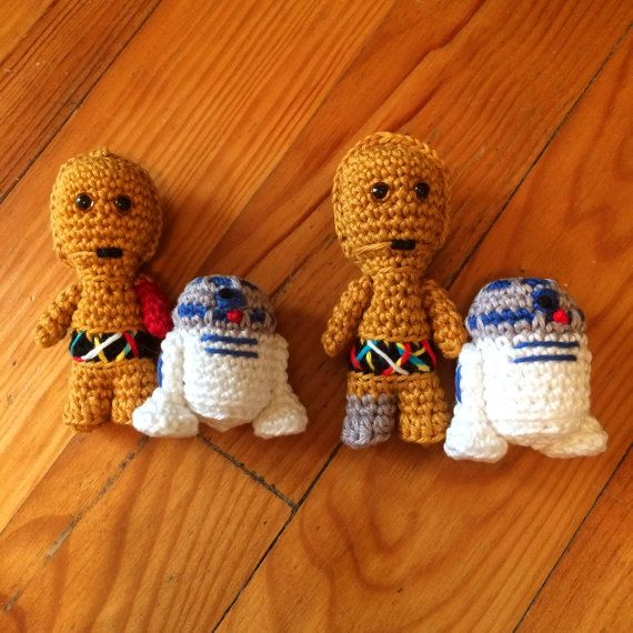 Pdf PATTERN : Mini C3PO and R2D2 droids - Star Wars robot crochet ...