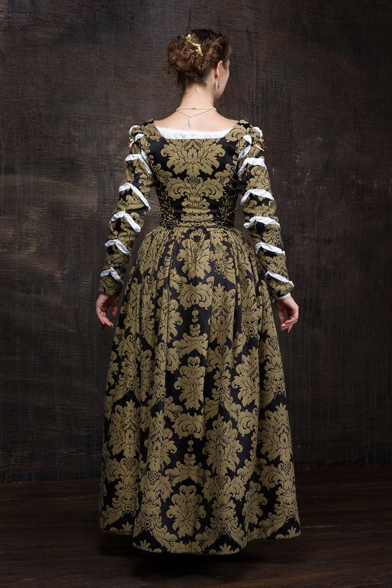 Renaissance Damenkleid 16. Jahrhundert Europa von ...
