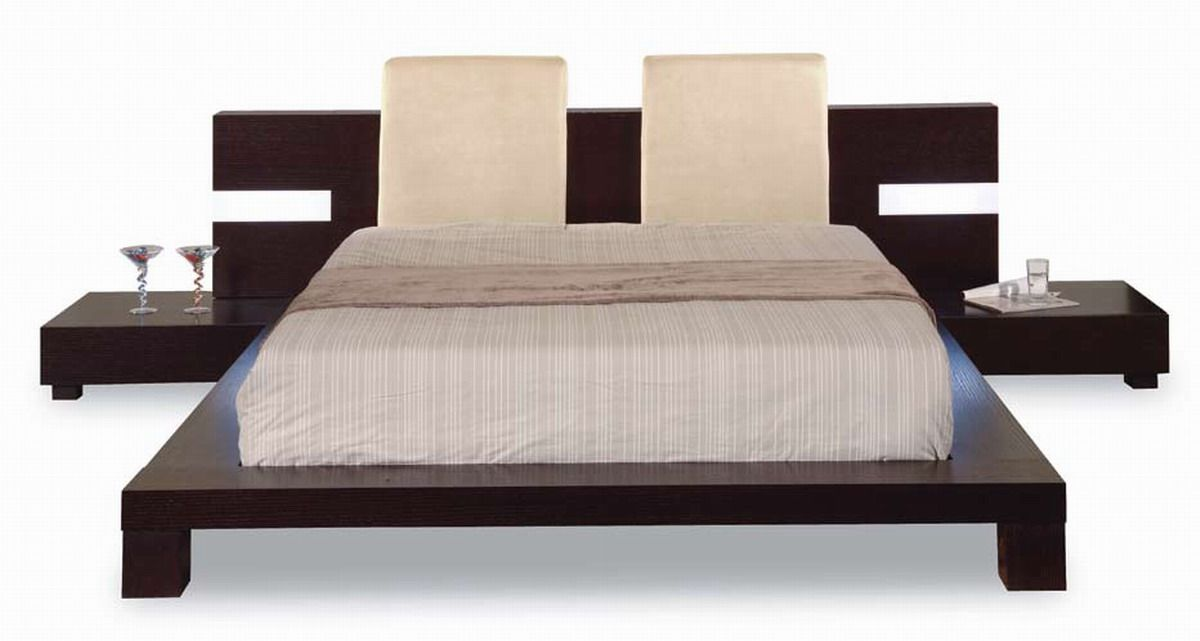 Bed Frame With Attached Nightstands Global Furniture Furniture