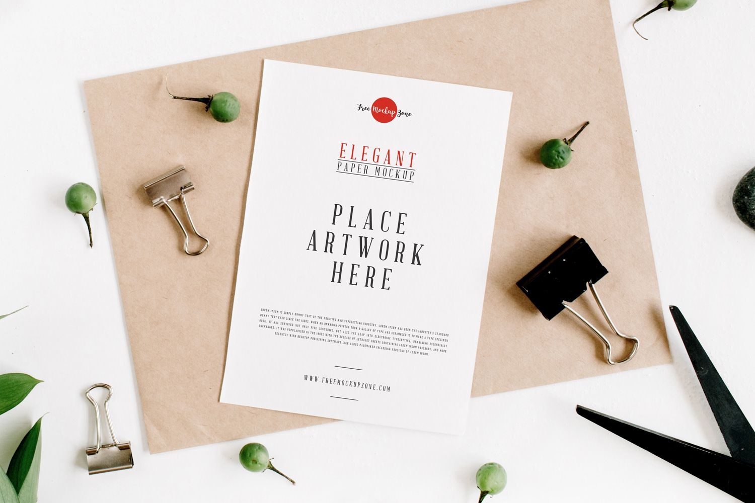 """Check out this Behance project """"Free Elegant Paper"""