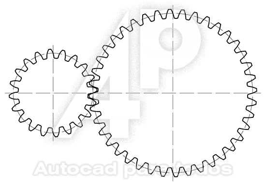 Autocad Para Todos 100 Practico Dibujo De Engranajes Rectos 2d Autocad Engranajes Engranajes Dibujo Autocad
