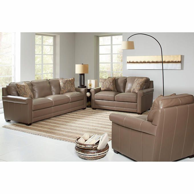 Fairfax 3 Piece Top Grain Leather Reclining Living Room Set Decoration In Indian Style Stone Haven Home Design