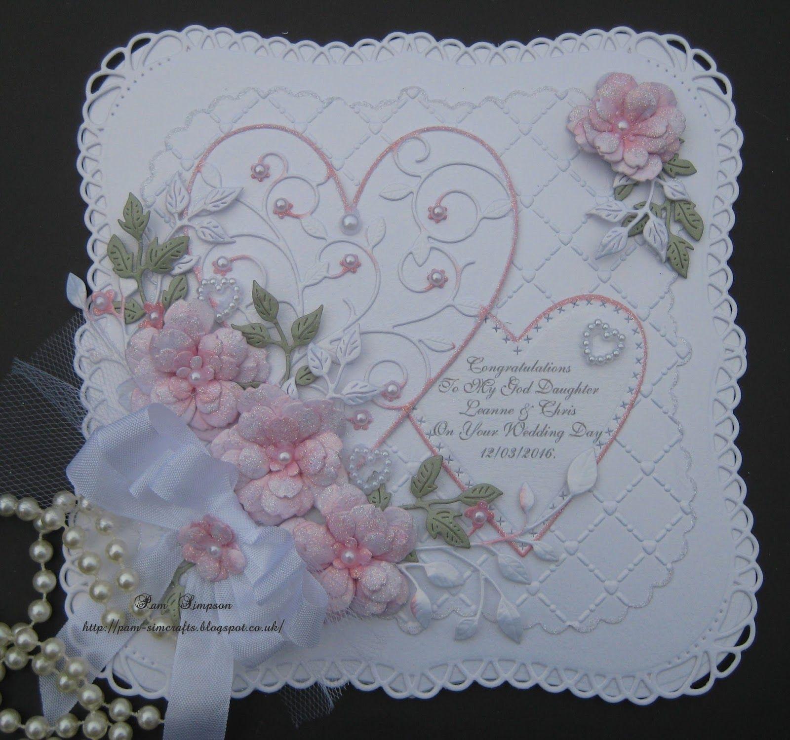 Открытка на свадьбу вязанная, картинка