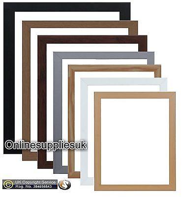 Photo Frame Picture Poster Frame Black White Pine Silver Oak Beech