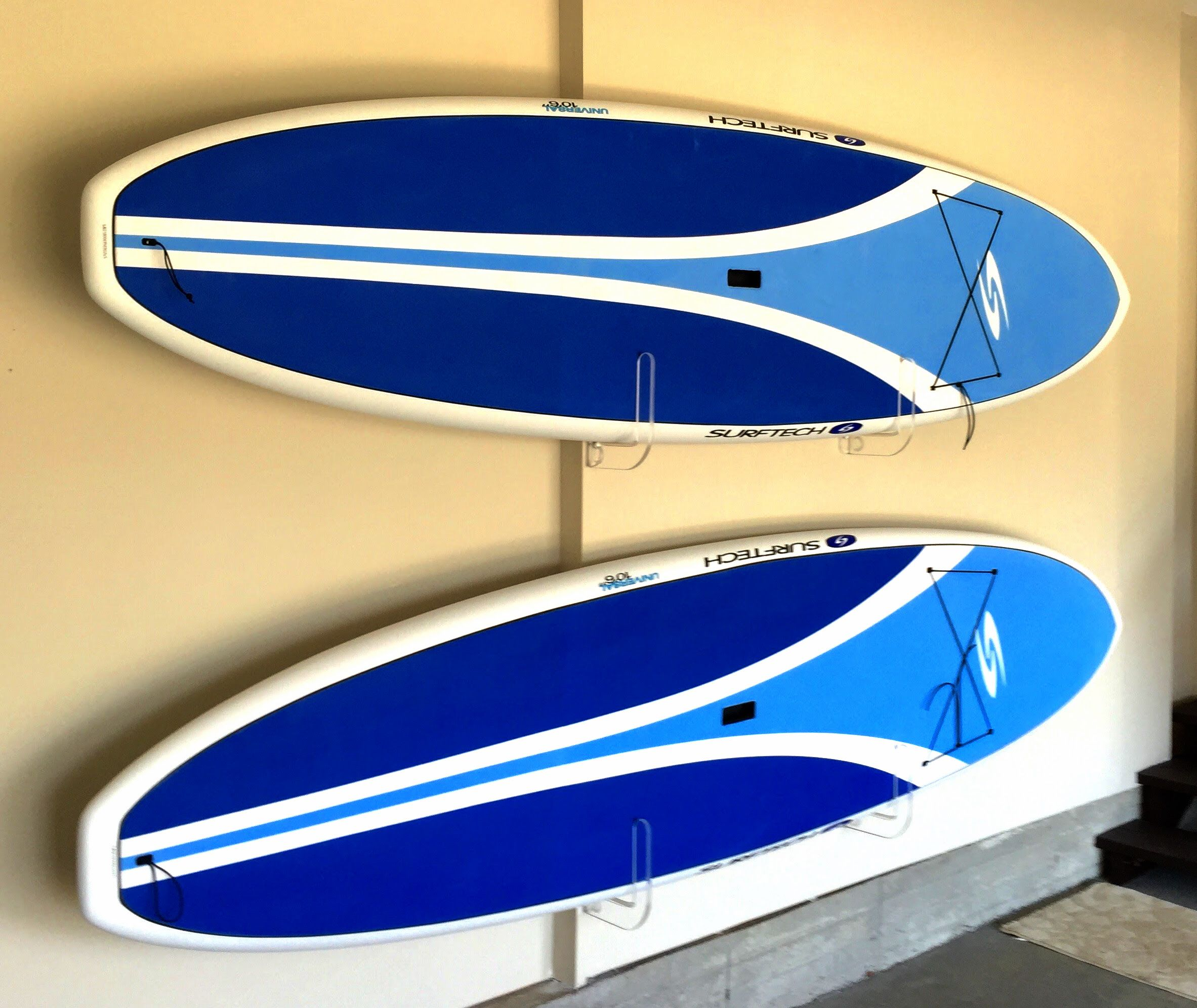 clear SUP wall storage and display racks for your home or garage ...