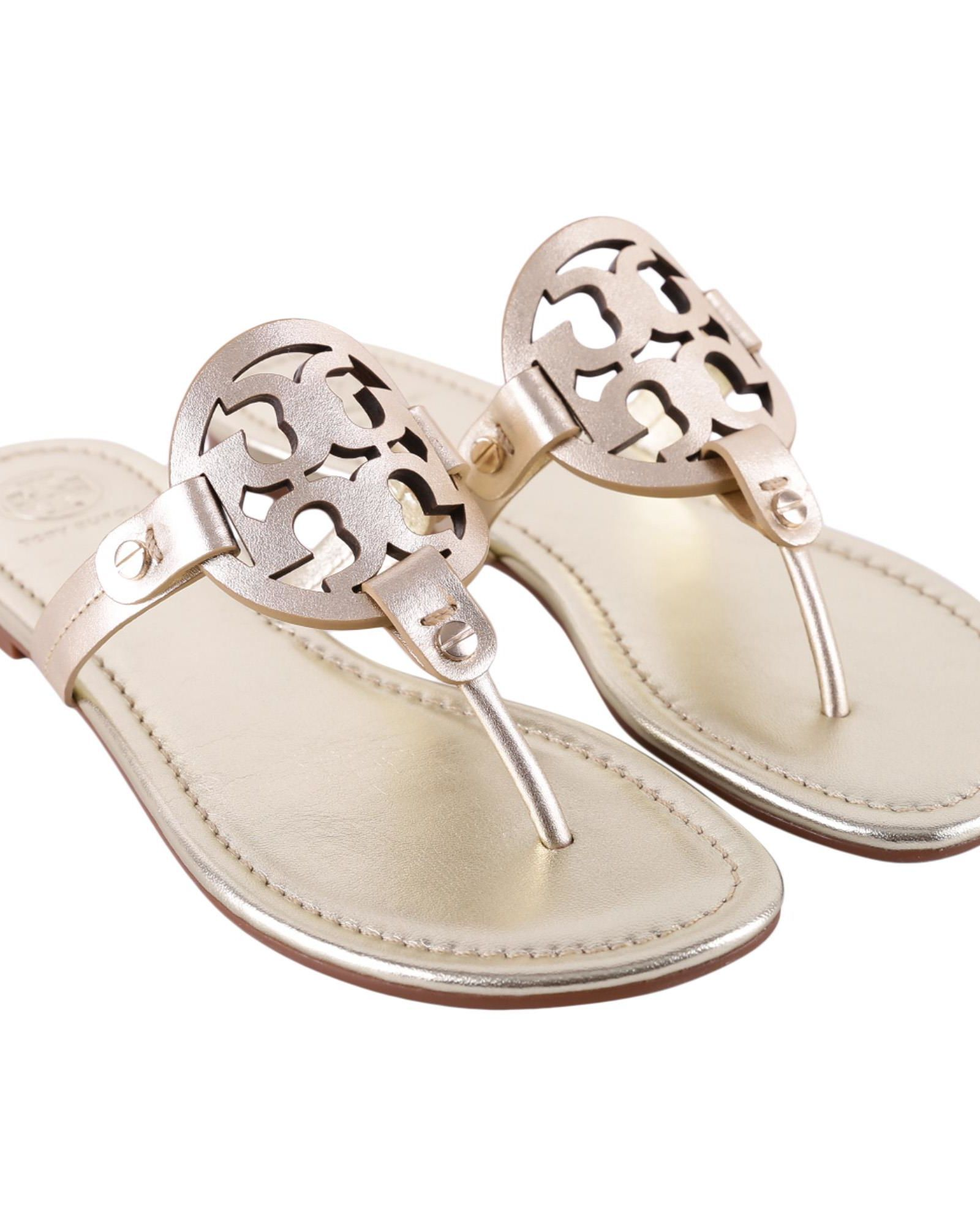 ed392c6ba4939 TORY BURCH MILLER METALLIC LEATHER SANDALS.  toryburch  shoes ...