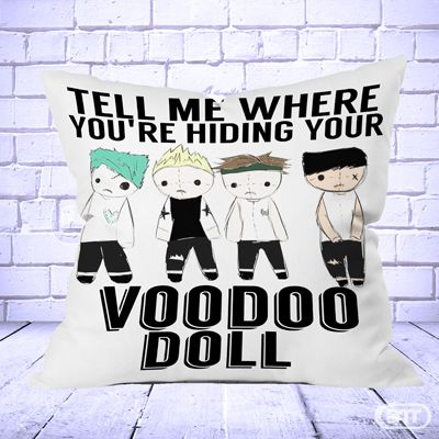 5 Seconds Of Summer VooDoo Pillow cases cheap and best quality. *100% money back guarantee